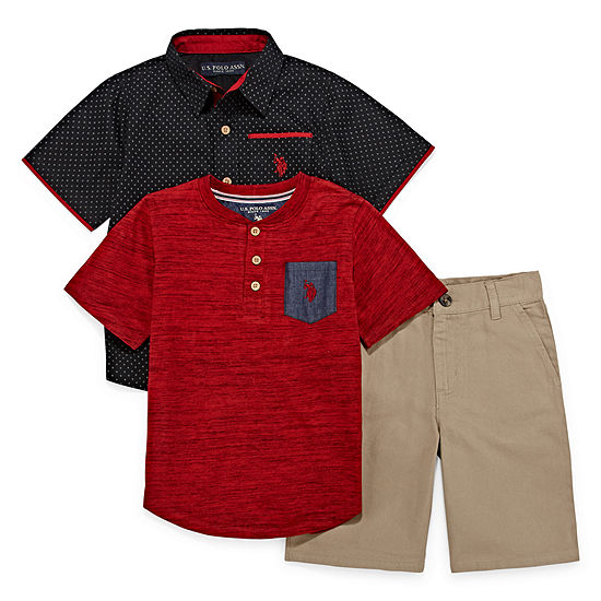 U.S. Polo Assn. Boys 3-pc. Short Set