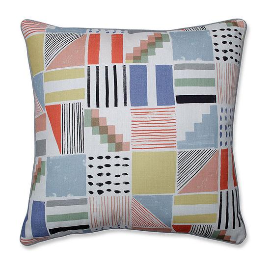 Pillow Perfect Amagansett Summer Square Throw Pillow
