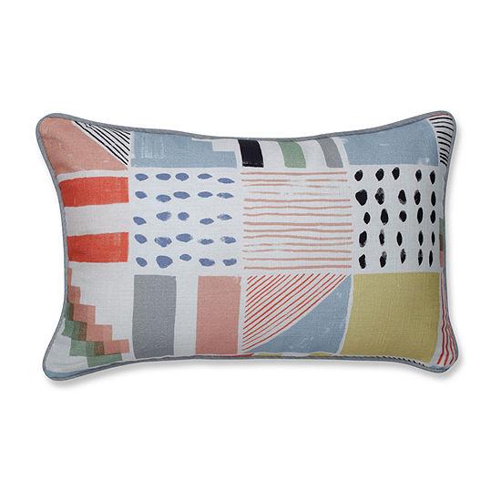 Pillow Perfect Amagansett Summer Rectangular Throw Pillow