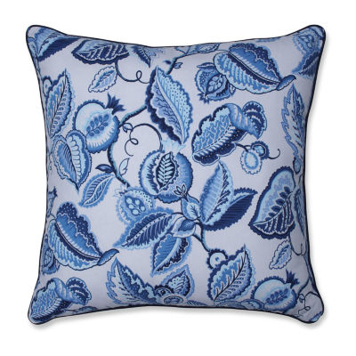 Pillow Perfect Fantasy Fleur Ocean Square Throw Pillow