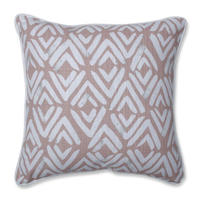 Pillow Perfect Fearless Blush Square Throw Pillow