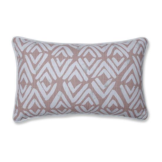 Pillow Perfect Fearless Blush Rectangular Throw Pillow