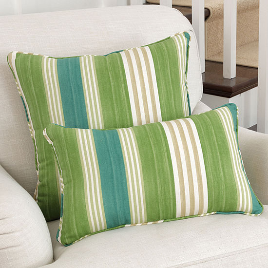 Pillow Perfect On Course Verte Square Throw Pillow