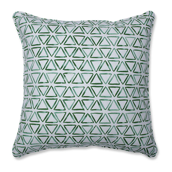Pillow Perfect Painted Triangles Verte Square Throw Pillow