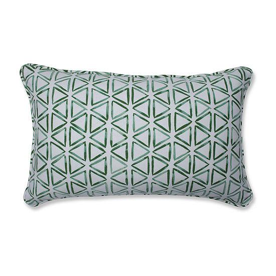 Pillow Perfect Painted Triangles Verte Rectangular Throw Pillow