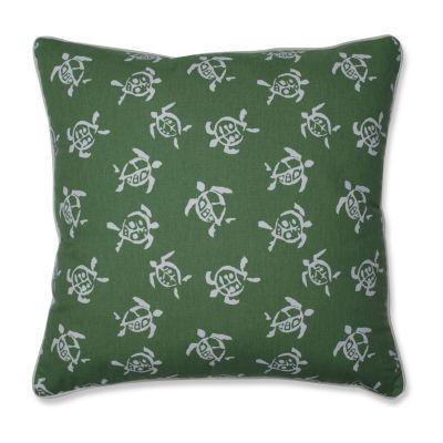 Pillow Perfect Sea Turtles Verte Square Throw Pillow