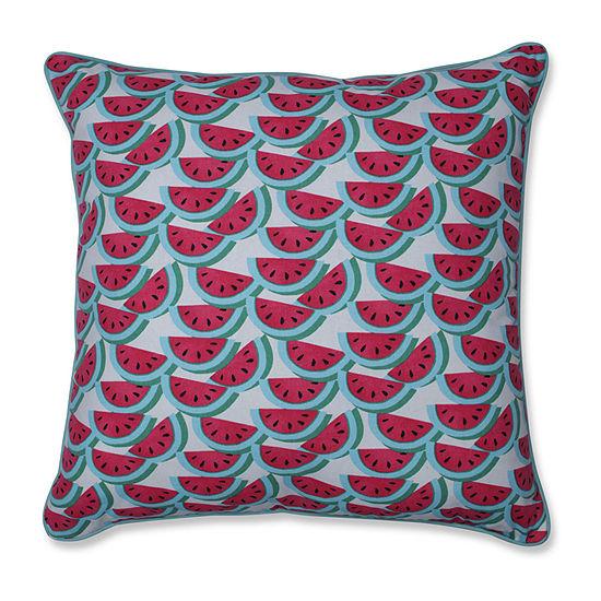 Pillow Perfect Watermelon Fushia Square Throw Pillow