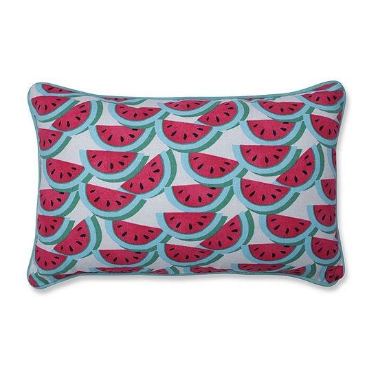 Pillow Perfect Watermelon Fushia Rectangular Throw Pillow