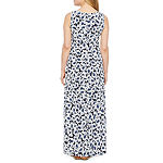 Ronni Nicole Sleeveless Floral Puff Print Maxi Dress