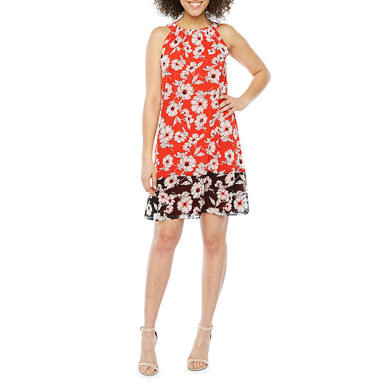 Studio 1 Sleeveless Floral A-Line Dress