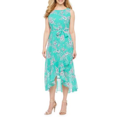 Studio 1 Sleeveless Floral Fit & Flare Dress-Petite