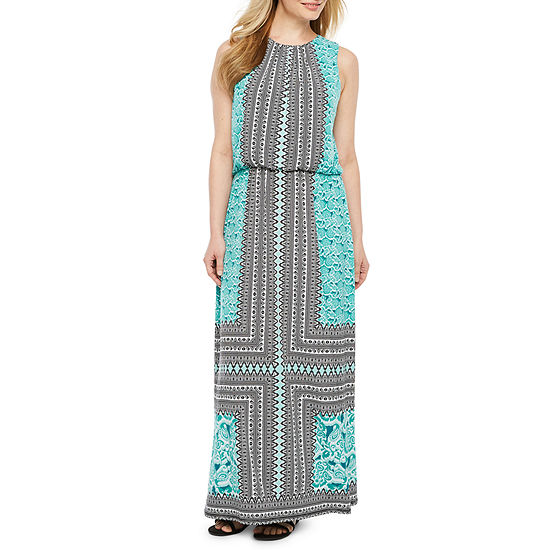 London Style Sleeveless Maxi Dress Petite