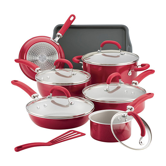 Rachael Ray Create Delicious 13 Pc Aluminum Non Stick Cookware Set