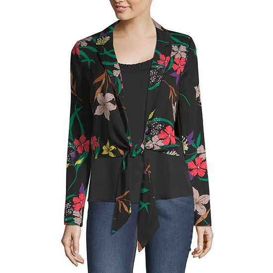 Worthington Womens Long Sleeve Blouse
