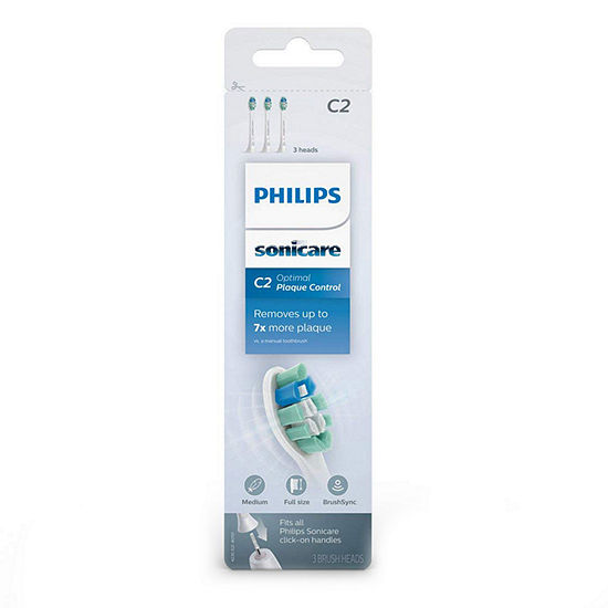 Philips Sonicare HX9023/65 Plaque Control Toothbrush Head, 3-Pack