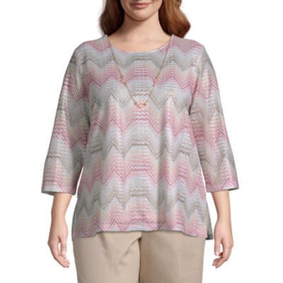 Society Page Alfred Dunner Chevron Top - Plus