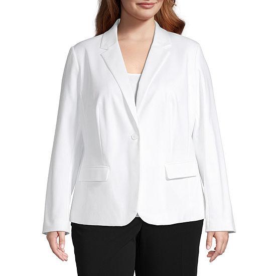Liz Claiborne One Button Jacket - Plus