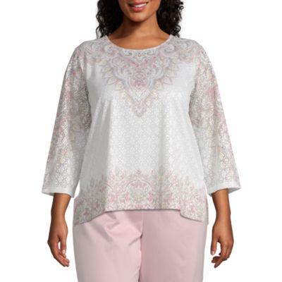 Society Page Alfred Dunner Scroll Border Top - Plus