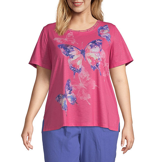 Alfred Dunner California Dreaming Butterfly Top - Plus