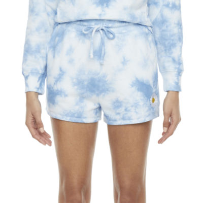 Cut And Paste Embroidered Womens Pull-On Short-Juniors
