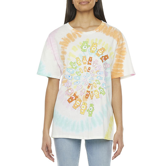 Mighty Fine-Juniors Womens Round Neck Short Sleeve Graphic T-Shirt
