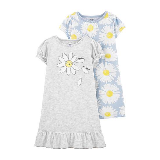 Carter's Toddler Girls 2-pc. Short Sleeve Round Neck Nightgown