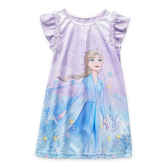 Disney Toddler Girls Elsa Short Sleeve Crew Neck Nightgown