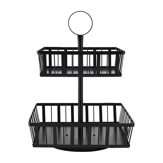 Gourmet Basics by Mikasa Rotating 2-Tier Stripe Basket
