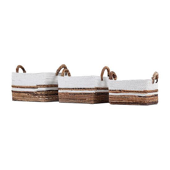 Baum Natural Wicker Rectangular Baskets