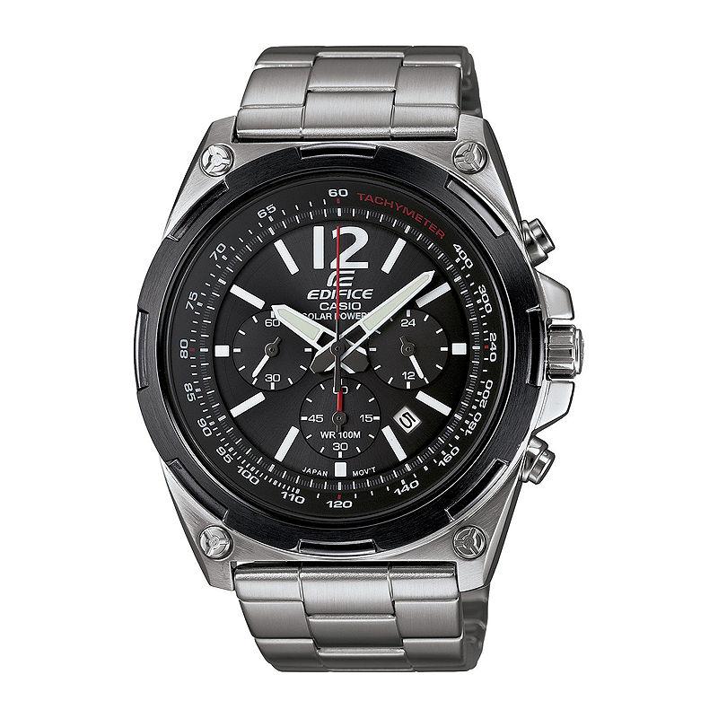 Casio Edifice Mens Black Dial Black Stainless Steel Solar Watch EFR545SBDB-1B