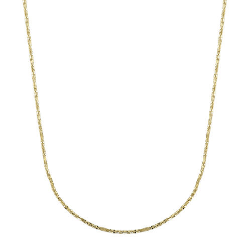 "Infinite Gold™ 14K Yellow Gold 20"" Criss-Cross Chain Necklace"