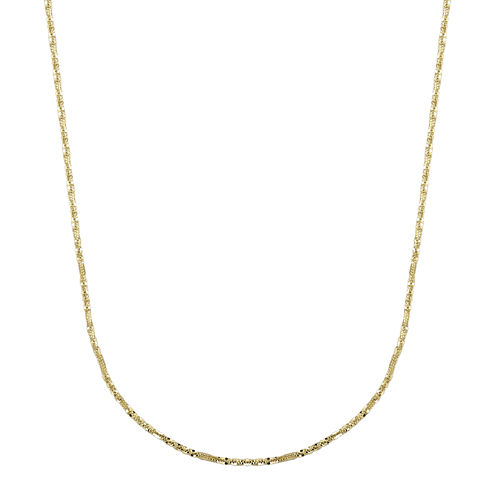 "Infinite Gold™ 14K Yellow Gold 22"" Criss-Cross Chain Necklace"