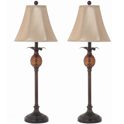 Marvelous JCPenney Home™ Set Of 2 Pineapple Buffet Table Lamps