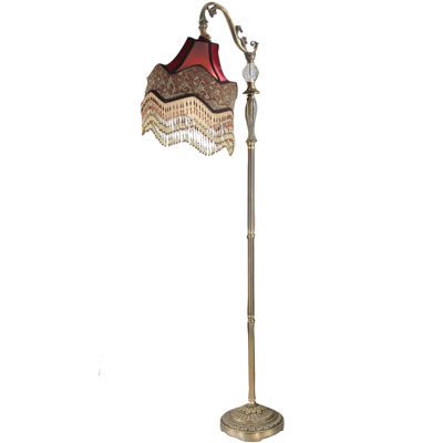 Dale Tiffany Beaded Ruby Floor Lamp