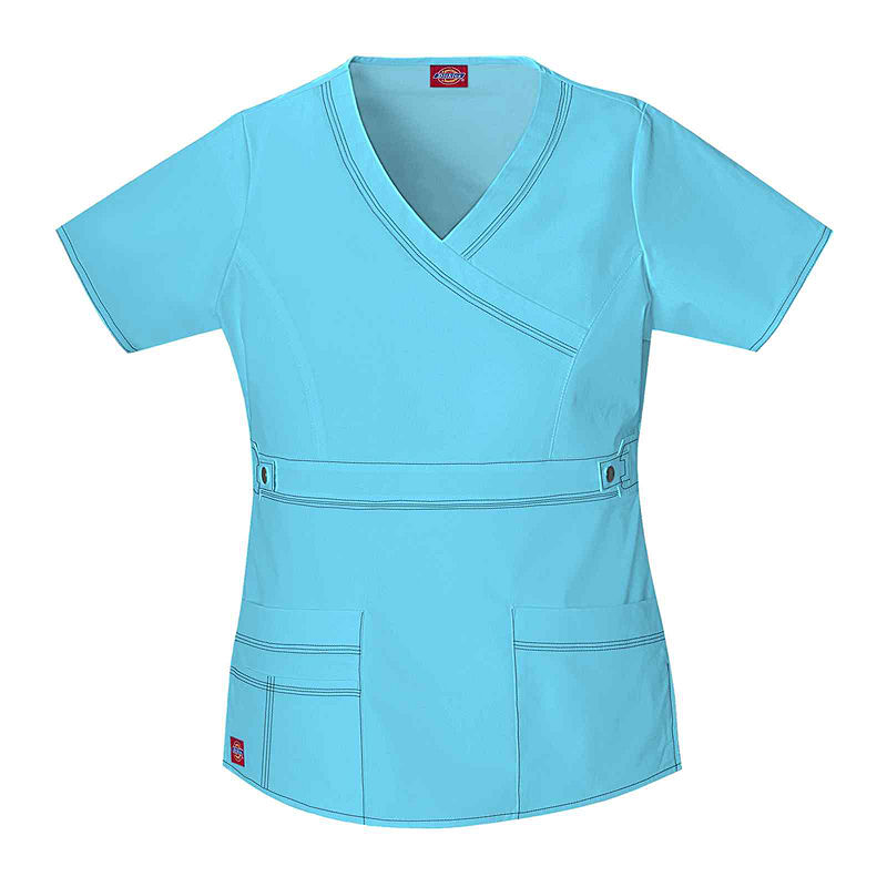 Dickies Youtility Mock Wrap Scrub Top-Juniors Plus plus size,  plus size fashion plus size appare
