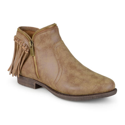 Journee Collection Fringe Womens Ankle Boots