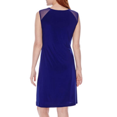 Scarlett Sheer Cap Sleeves Sheath Dress