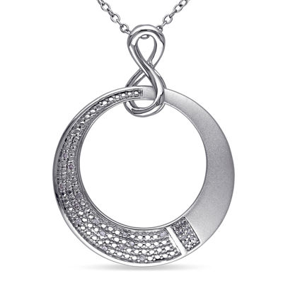 1/10 CT. T.W. Diamond Sterling Silver Infinity Symbol Necklace
