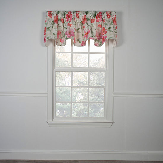 Arden Lined Scalloped Rod-Pocket Valance