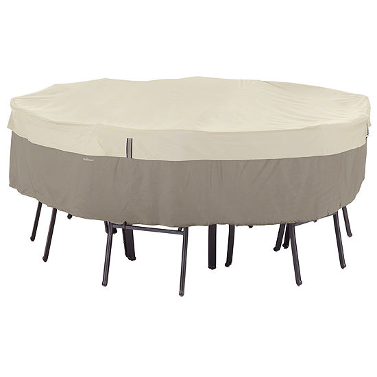 Classic Accessories Belltown Storagesaver Small Round Table 4 Chair Cover