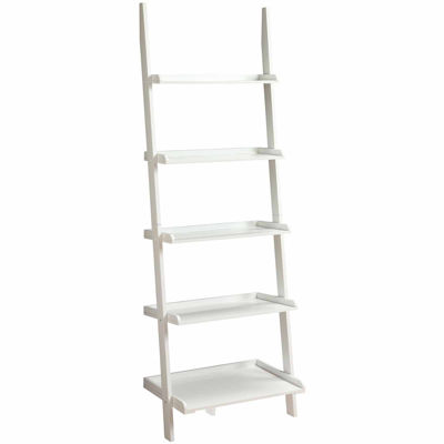 French Country Delaney 5-Shelf Ladder Bookshelf