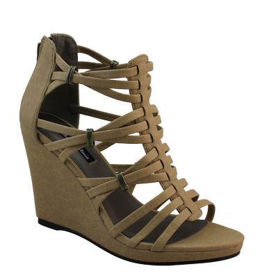 Michael Antonio Answer Womens Wedge Sandals