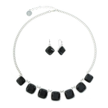 Liz Claiborne Womens 2-pc. Black Jewelry Set