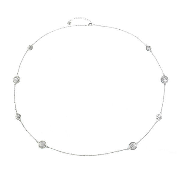 Monet Jewelry Womens Clear Strand Necklace