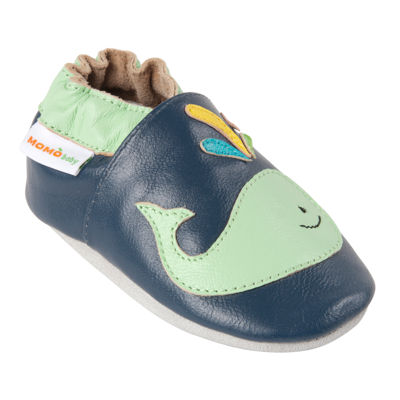 Momo Baby A Whale Of A Time Boys Crib Shoes-Baby