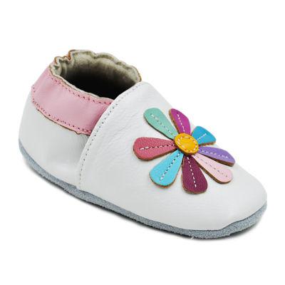 Momo Baby Rainbow Lily Girls Crib Shoes-Baby