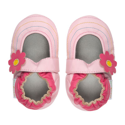 Momo Baby Rainbow Toes Mary Jane Girls Crib Shoes-Baby