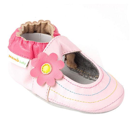 Momo Baby Girls Rainbow Toes Mary Jane Crib Shoes