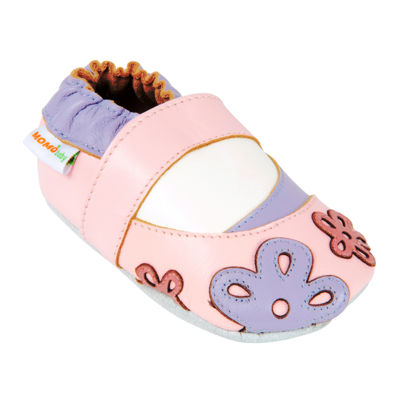 Momo Baby Scattered Daisy Girls Crib Shoes-Baby
