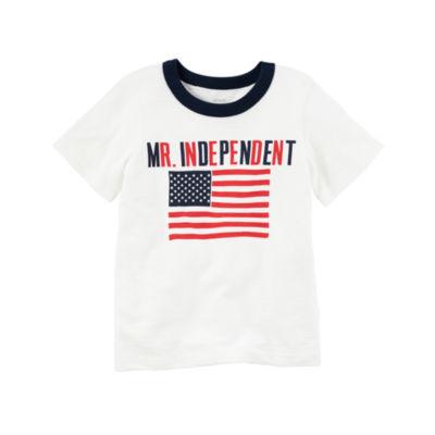 Carter's Short Sleeve Crew Neck T-Shirt-Toddler Boys